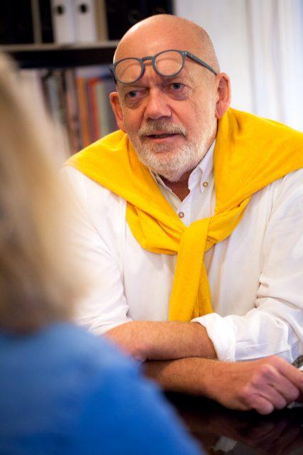 Ove Gaardboe i interview situation, 2018