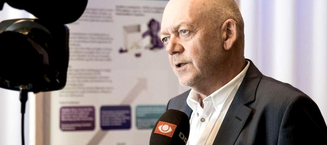 Ove Gaardboe interviewes til DR tv